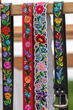 Hungarian belts, painted and embroidered Stock Photography