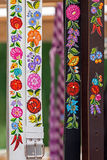 Hungarian belts, painted and embroidered 1 Stock Photos