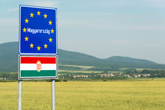 Hungarian border Stock Photography