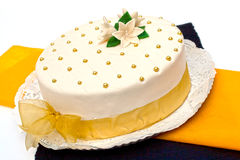 Hungarian cake for all occasions. Marzipan cake for all occasions Stock Image