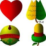 Hungarian cards symbols. Hungarian playing cards symbols Schnapsen Stock Images