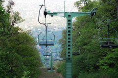 Hungarian Chair-lift royalty free stock photography