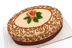 Hungarian chesnut cake for all occasions. Marzipan  cake for all occasions Royalty Free Stock Image