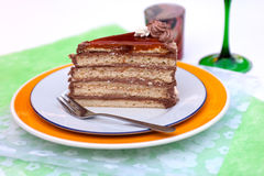 Hungarian chocolate cake Royalty Free Stock Images