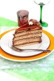 Hungarian chocolate cake. Delicious  chocolate cake from Hungary Stock Photos