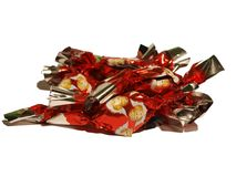 Hungarian Christmas candy, fondant heap on white isolated background. Royalty Free Stock Photography