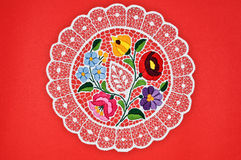 Hungarian circle embroidery Royalty Free Stock Photos