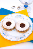 Hungarian cookies with jam Stock Photography