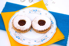 Hungarian cookies with jam Royalty Free Stock Photography