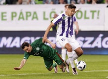 Hungarian Cup Final football match between Ujpest FC and Ferencvarosi TC Royalty Free Stock Photos
