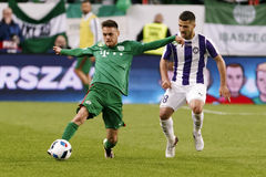 Hungarian Cup Final football match between Ujpest FC and Ferencvarosi TC Stock Images