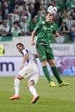 Hungarian Cup Final football match between Ujpest FC and Ferencvarosi TC Royalty Free Stock Image