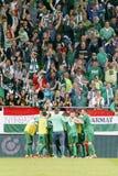 Hungarian Cup Final football match between Ujpest FC and Ferencvarosi TC Stock Photos
