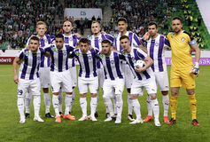 Hungarian Cup Final football match between Ujpest FC and Ferencvarosi TC Stock Photo
