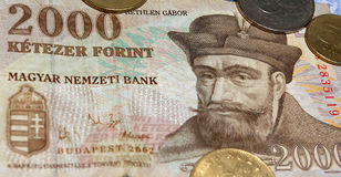 Hungarian currency royalty free stock photo