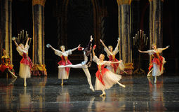 Hungarian Dance-The prince adult ceremony-ballet Swan Lake Stock Photo