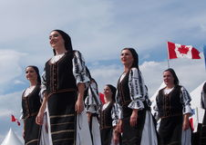 Hungarian Dancers At Edmonton's Heritage Days 2013 Stock Images