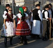Hungarian days in Cluj. Faces in the crowd royalty free stock image