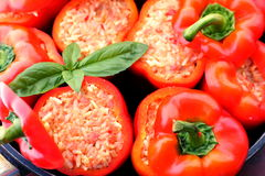 Hungarian delicacy, stuffed red pepper Royalty Free Stock Images