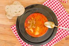 Hungarian goulash soup Royalty Free Stock Photo