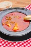 Hungarian goulash soup close up Stock Photos