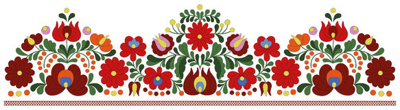 Hungarian embroidery border pattern Stock Photography