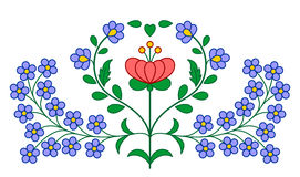 Hungarian embroidery floral decoration Royalty Free Stock Image