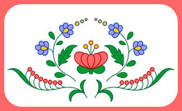 Hungarian embroidery floral decoration Royalty Free Stock Photography
