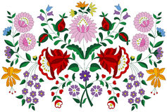 Hungarian embroidery folk pattern from Kalocsa region Royalty Free Stock Photography