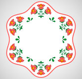 Hungarian embroidery frame with floral decoration Royalty Free Stock Photography