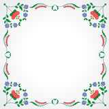 Hungarian embroidery frame with floral decoration Stock Photos