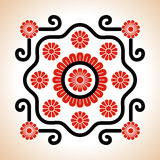 Hungarian embroidery motives decoration Royalty Free Stock Images