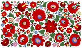 Hungarian embroidery pattern for pillows Stock Images