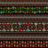 Hungarian embroidery pattern Stock Photo