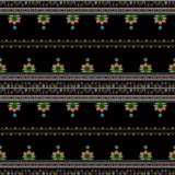 Hungarian embroidery pattern Stock Images