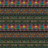 Hungarian embroidery pattern Royalty Free Stock Images