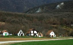 Hungarian farm in the mountains royalty free stock photos