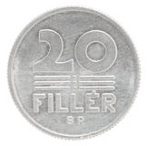 Hungarian filler coin Royalty Free Stock Photo