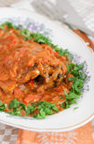 Hungarian fish paprikash Stock Images