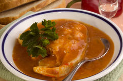 Hungarian fish soup Royalty Free Stock Images