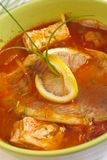 Hungarian fish-soup. From different kinds of fish Stock Images