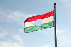 Hungarian flag. In wind, remember 1956 Royalty Free Stock Photos