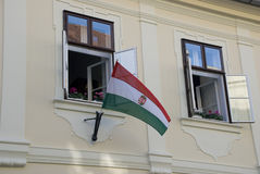 Hungarian flag, Budapest Royalty Free Stock Photo
