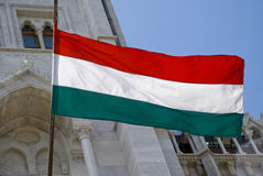 Hungarian Flag, Hungary Stock Images