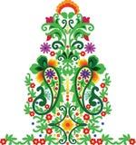 Hungarian folk art. Hungarian beautiful folk art drawing stock illustration