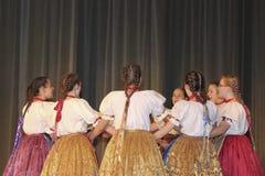 Hungarian folk dancers Royalty Free Stock Photo