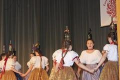 Hungarian folk dancers Stock Images