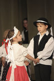 Hungarian folk dancers Royalty Free Stock Image