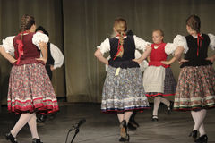 Hungarian folk dancers Royalty Free Stock Photo