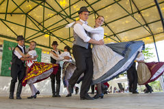 Hungarian Folk Dancing Stock Photo